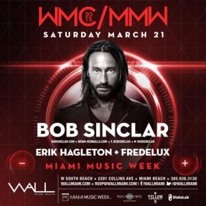 Bob Sinclair at WALLmiami During Miami Music Week 2015